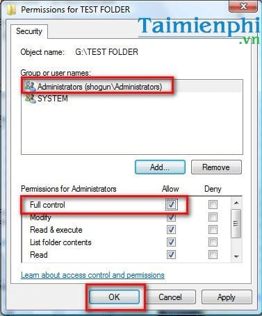 How to change the access rights of a file folder on a laptop computer 13