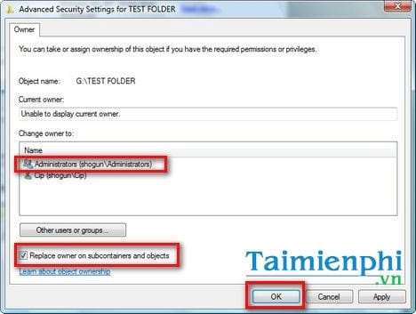 How to change the access rights of a file folder on a laptop computer 8