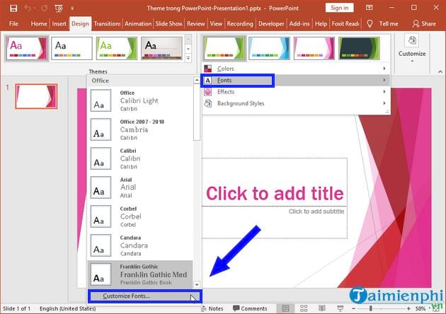 how to change theme in powerpoint 12