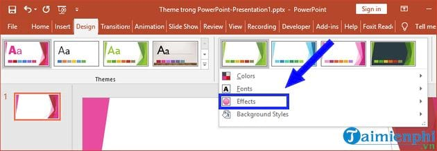 how to change theme in powerpoint 15