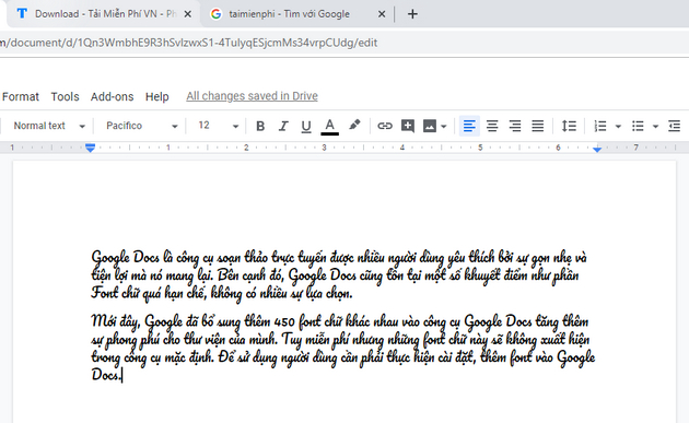 how to add font to google docs 4