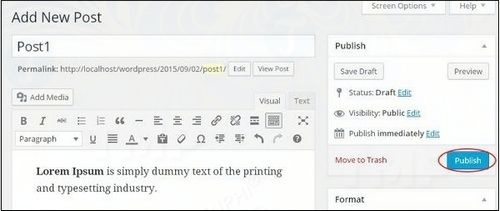 how to add new articles in wordpress 4