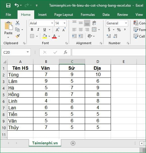 how to show excel by excel 2