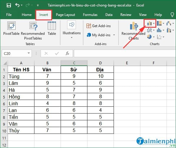 how to show excel by excel 3