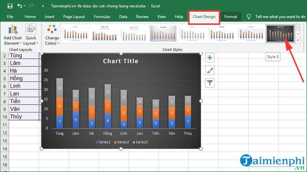 how to show excel by excel 7