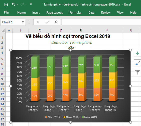 How to visualize shapes in Excel 2019 10