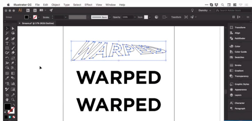 how to warp warp control in adobe illustrator 8