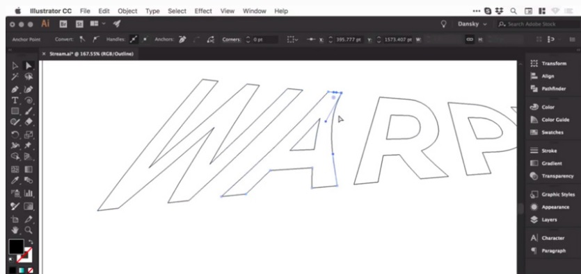 How to warp warp control in adobe illustrator 9
