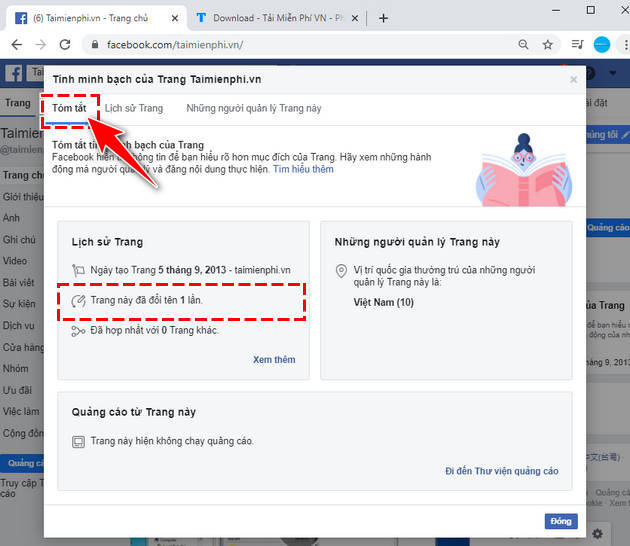 How to view the fanpage history 3