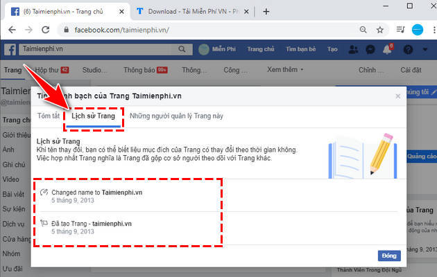 how to view fanpage history 4