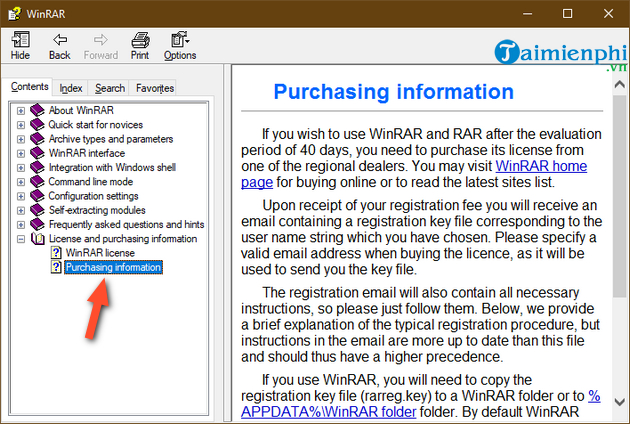 check your version of winrar is using