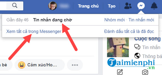 how to view facebook messenger messages bi 6