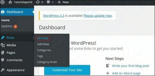 how to see first lesson on wordpress 2