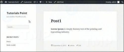 How to see previous posts on wordpress 5
