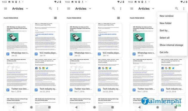 How to view and manage files on Android 10 7