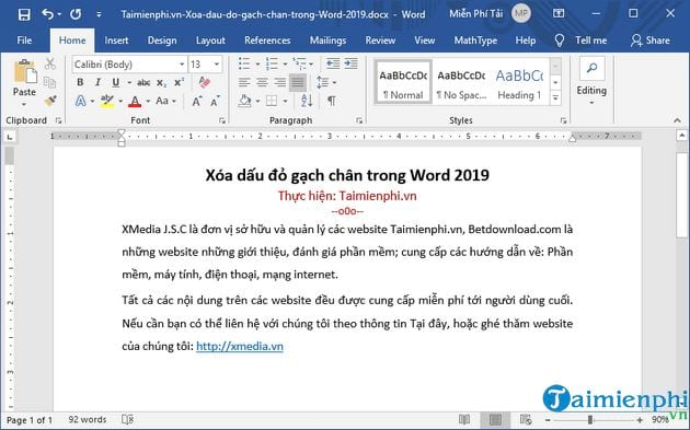How to clean a book in word 2019 5