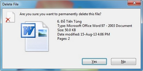 How to delete the data file without hunting