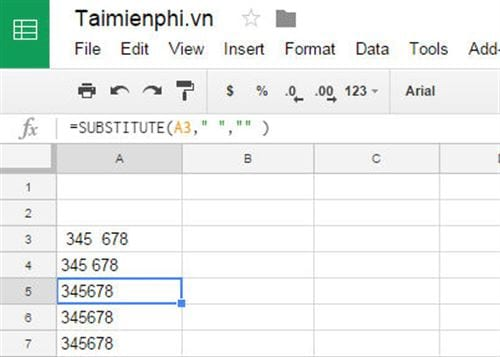 How to delete page spaces in Google sheets 3