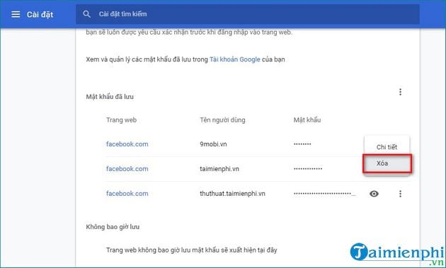 how to remove gmail password on facebook, new chrome 6