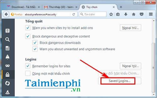 how to delete gmail password stored on firefox 3