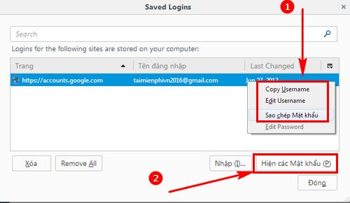 how to remove gmail password in firefox 4