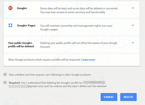 how to delete google account without removing gmail 3