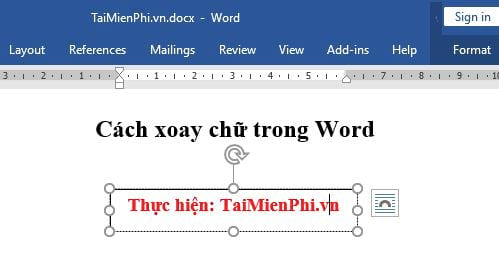 how to rotate cycle in word 2