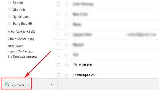Export from Google Mail