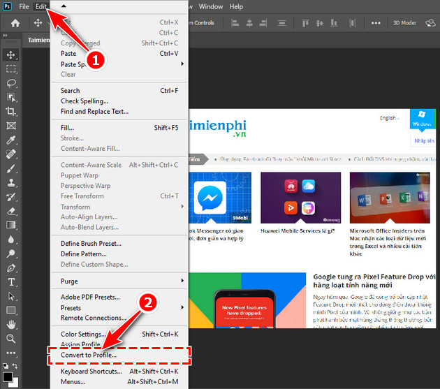 How to export photos in an Photoshop file 2?