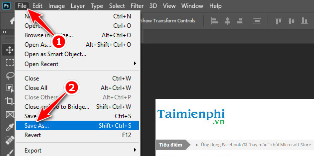 How to export photos in Photoshop 4?