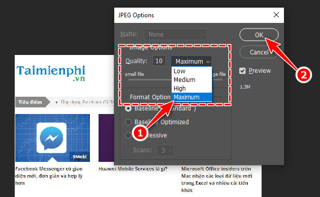 How to export photo files in Photoshop 6?
