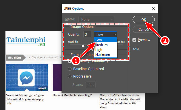 How to produce an image file in Photoshop 7?