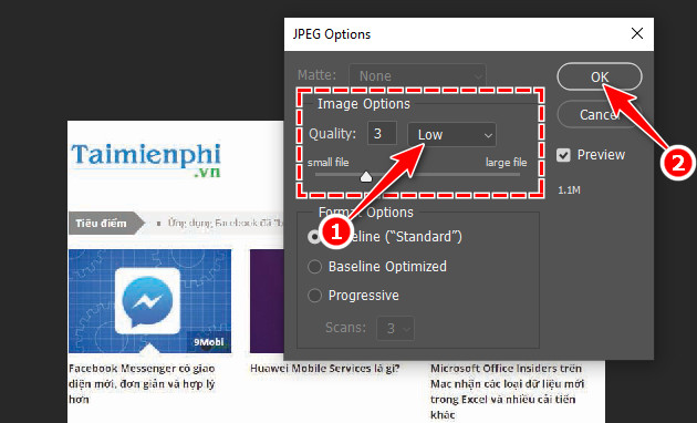 How to export photos in Photoshop 10?