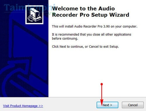 Setting up the audio recorder on the computer does not use the mem