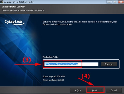 Install CyberLink Youcam on your laptop