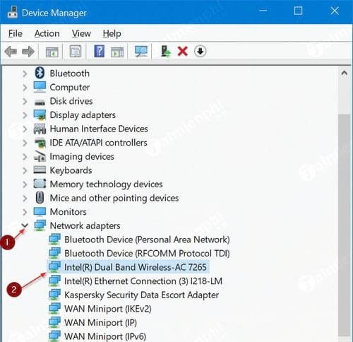 reinstall the wifi driver on windows 10 3