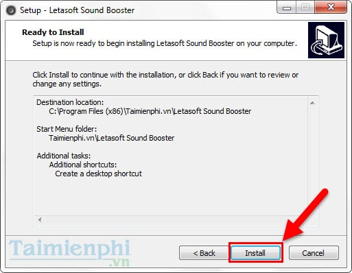 Install sound booster