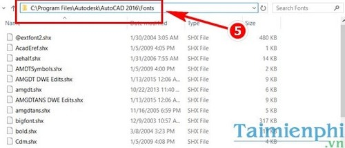 Install autocad font in vietnamese in autocad
