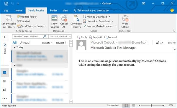 Install gmail into outlook 2016 with imap 11