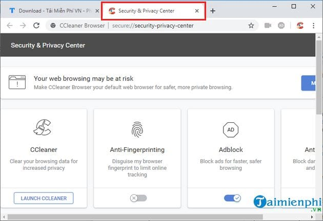 set and use ccleaner browser on pc 7