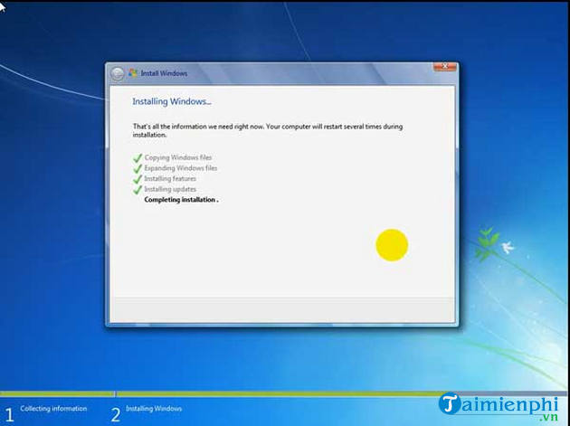 The steps to install Windows 7 quickly