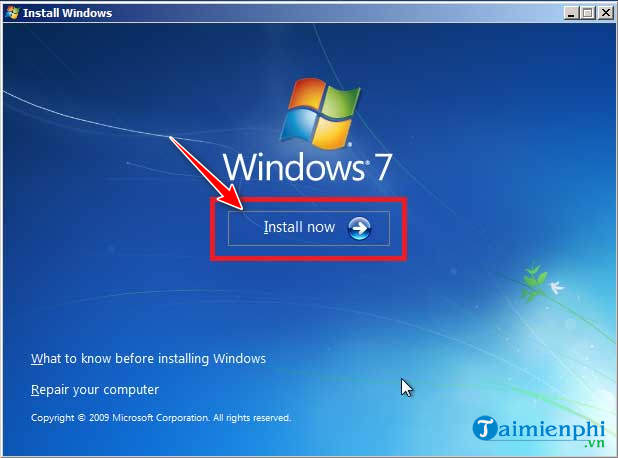The steps to install Windows 7 using USB