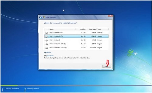 Install Windows 7 for the computer