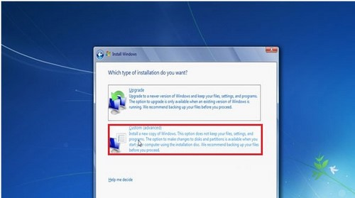 how to install windows 7 from hdd
