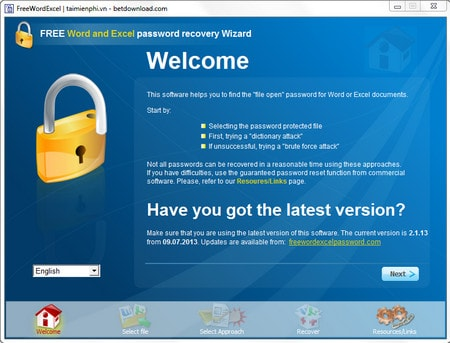Installing Word and Excel Password Recovery Wizard