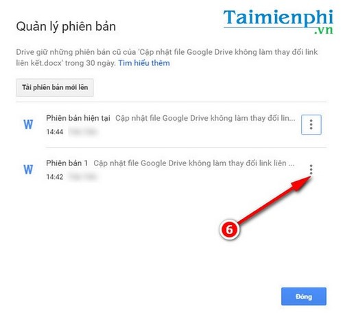 Update the Google Drive file without changing the path