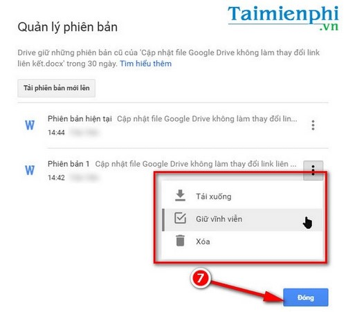 Update google drive file without changing the link