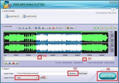 Create mp3 with Free MP3 Cutter