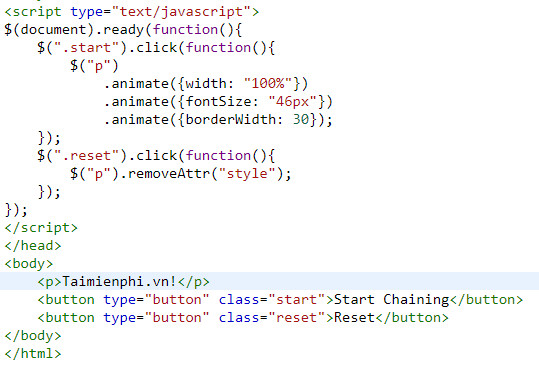 chaining in jquery 3