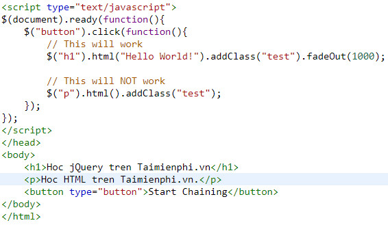 chaining in jquery 5
